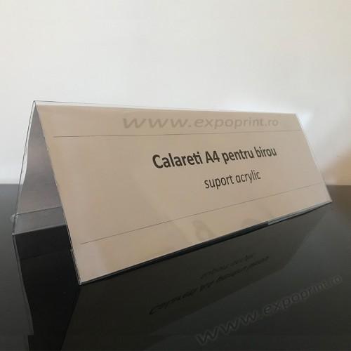 Calareti A4 / suport nume pentru birou
