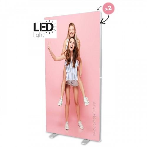 Caseta Luminoasa Textil LED cu talpi de sustinere