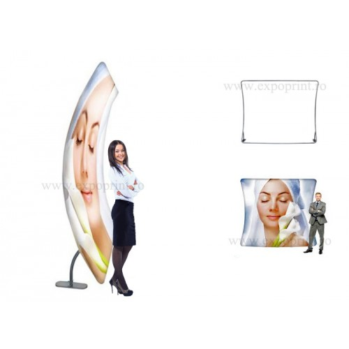 Pop-up Textil Wave Screen 3x2.3m