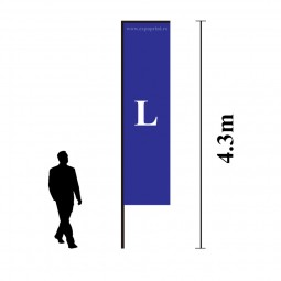 Steag Catarg Drept L Personalizat (Rectangular)