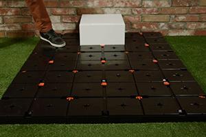 Panouri podea negreu pentru cuburi modulare expo POSM