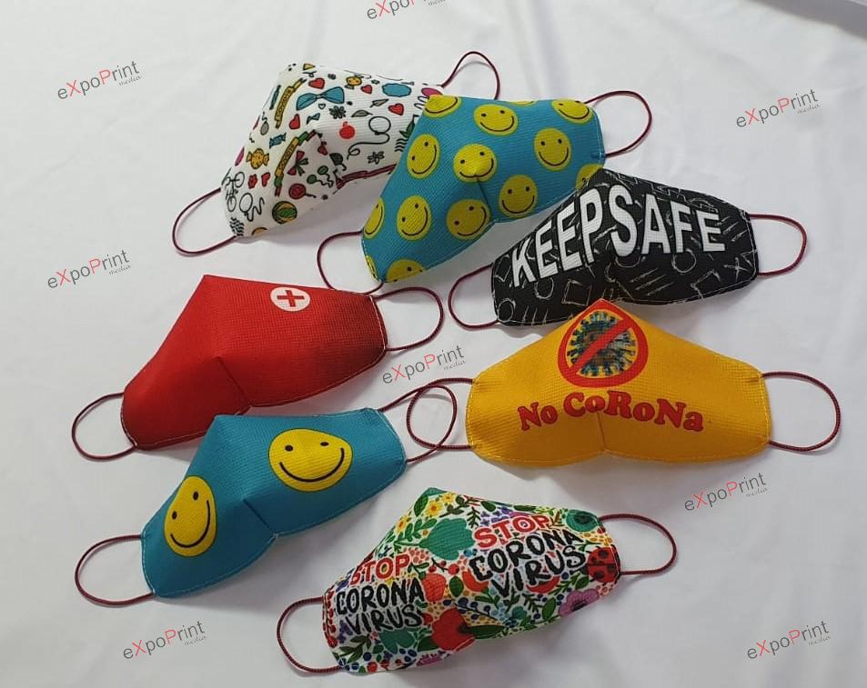 Masti de protectie personalizate full-color, lavabile corona virus